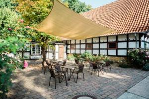 Terrasse im Innenhof am Ramselhof